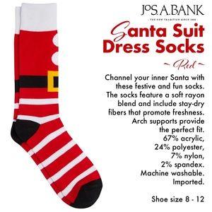 Santa Suit Dress Socks